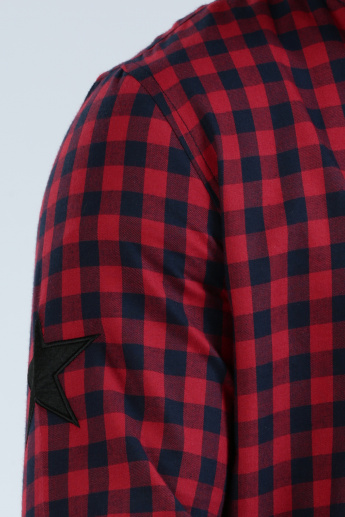 Iconic Chequered Shirt with Applique Detail