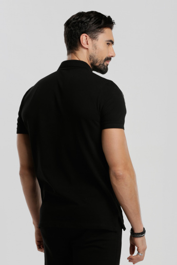 Iconic Short Sleeves T-Shirt with Polo Neck