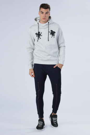 Iconic Embellished Sweatshirt with Long Sleeves and Hood