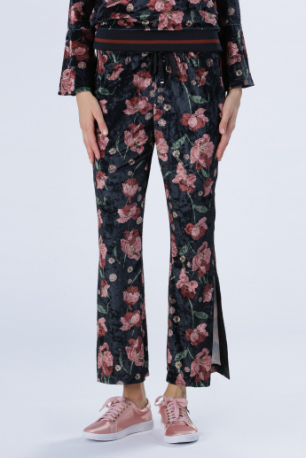 Iconic Printed Pants with Elasticised Waistband and Drawstring