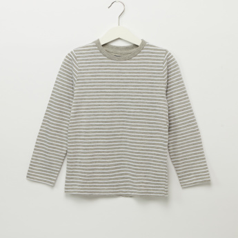 Iconic Striped Round Neck Long Sleeves T-Shirt