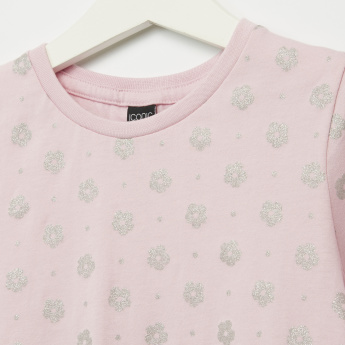 Iconic Flower Printed Short Sleeves T-Shirt