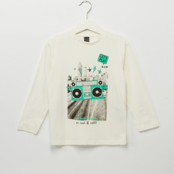 Iconic Printed Long Sleeves T-Shirt