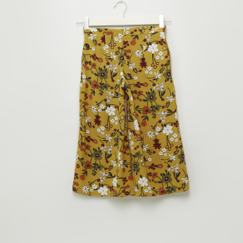 Iconic Floral Printed Pants with Zip Closure