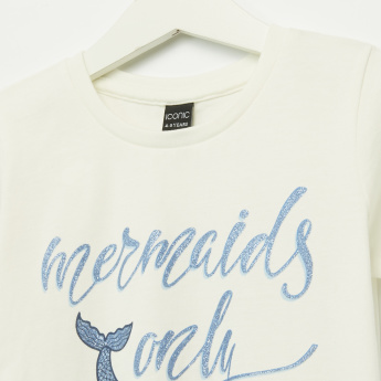 Iconic Mermaids Only Glitter Short Sleeves T-Shirt
