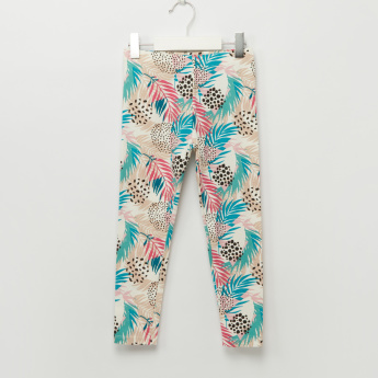 Iconic Printed Full Length Leggings with Elasticised Waistband