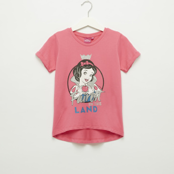 Iconic Snow White Printed Round Neck Short Sleeves T-Shirt
