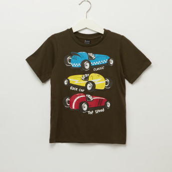 Iconic Race Car Printed Short Sleeves T-Shirt