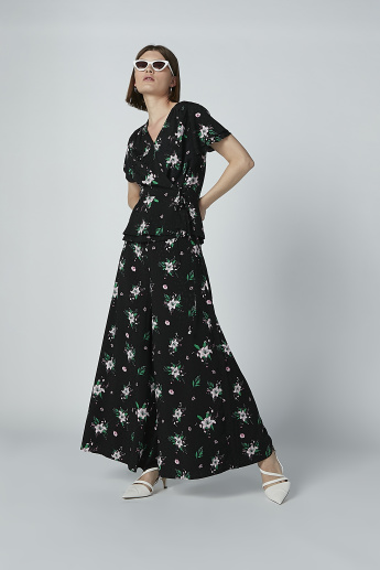 Iconic Floral Printed A-Line Maxi Dress
