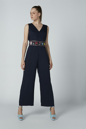 Iconic Sleeveless Embroidered Jumpsuit