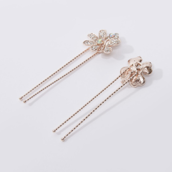 Set of 2 - Iconic Studded Applique Detail Hairpins