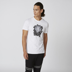 Iconic Slim Fit Printed T-shirt with Round Neck and Short Sleeves