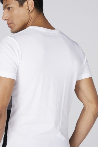 Bossini T-Shirt with V-Neck and Short Sleeves