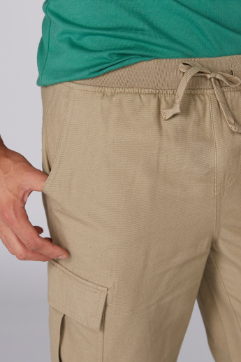 Bossini Pocket Detail Shorts with Elasticised Waistband and Drawstring