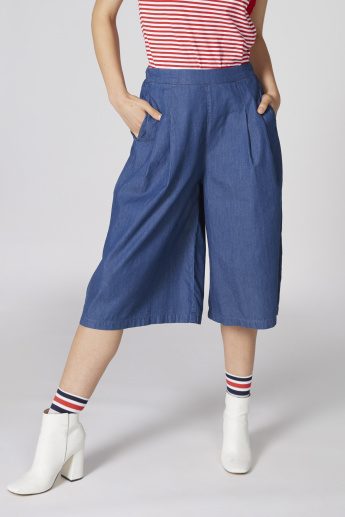 Bossini Pocket Detail Culottes with Elasticised Waistband