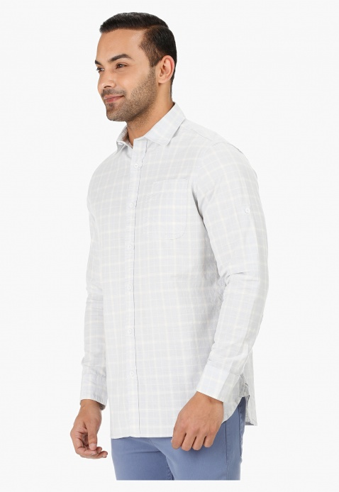 Lee Cooper Chequered Shirt with Long Sleeves