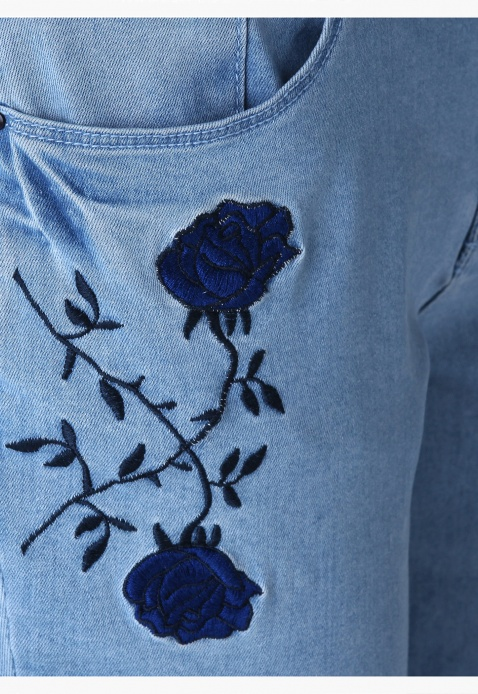 Lee Cooper Embroidered Jeans