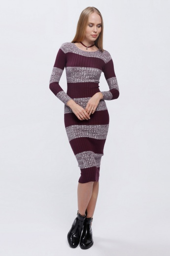 Striped Dress with Long Sleeves