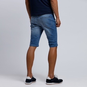 Lee Cooper Denim Shorts with Button Closure