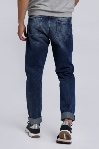 Lee Cooper Distressed Jeans with Button Closure