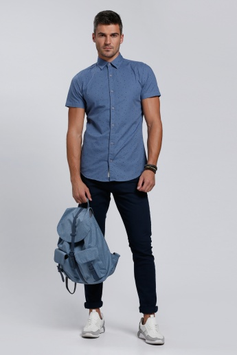 Lee Cooper Short Sleeves Shirt with Complete Placket