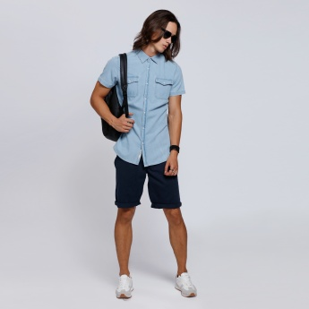 Lee Cooper Short Sleeves Shirt with Two Flap Pockets