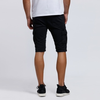 Cargo Shorts with Button Closure