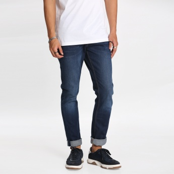 Lee Cooper Full Length Jeans with Button Closure