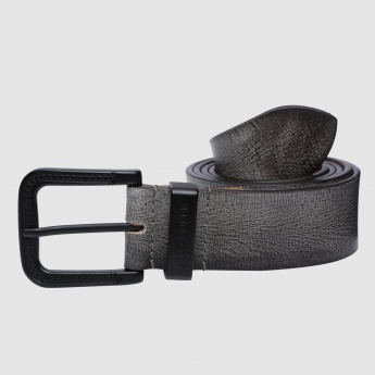 Lee Cooper Printed Belt with Pin Buckle Closure
