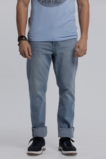 Lee Cooper Full Length Jeans with Pocket Detail