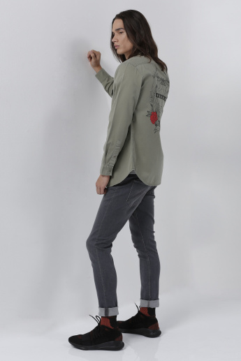 Lee Cooper Printed Jacket with Button Closure