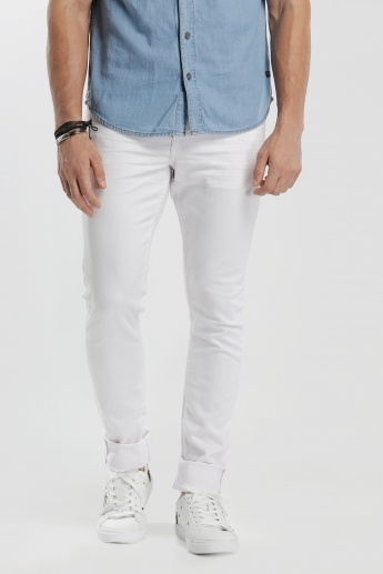 Lee Cooper Full Length Jeans with Button Closure in Skinny Fit