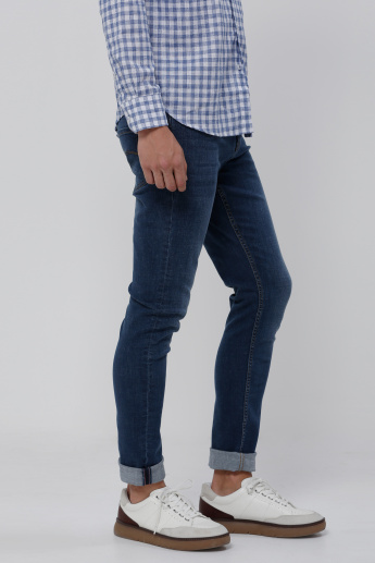 Lee Cooper Jeans with Button Closure and Pocket Detail