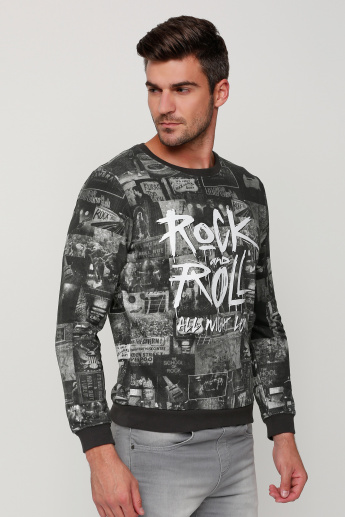 Lee Cooper Printed Round Neck Sweatshirt