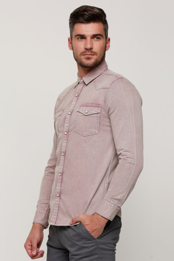 Lee Cooper Shirt with Long Sleeves and Patch Pockets