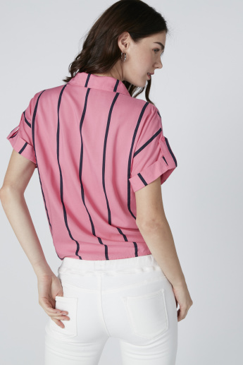 Lee Cooper Striped Shirt with Extended Sleeves