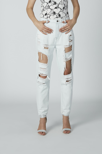 Lee Cooper Ripped Jeans with Pocket Detail