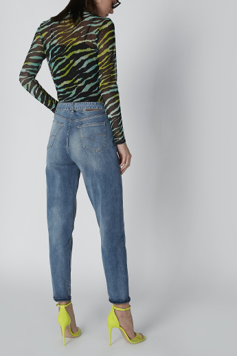 Lee Cooper Full Length Jeans with Pocket and Belt Detail
