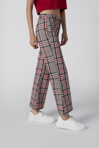 2e8bc097 Lee Cooper Chequered Pants in Bootcut with Pocket Detail | Red