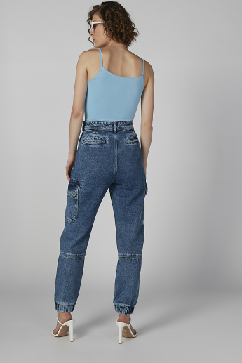 Sustainability Cuffed Jeans with Cuffed Hems and Pockets