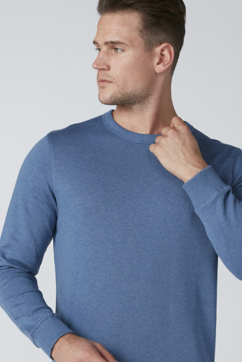 Bossini Round Neck Sweater with Long Sleeves