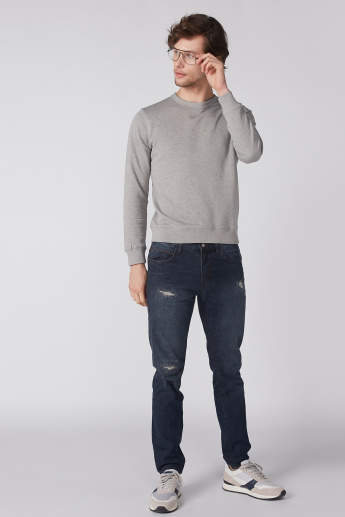 Bossini Round Neck Sweatshirt with Long Sleeves