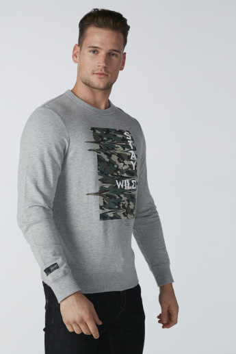 Bossini Printed Sweatshirt with Long Sleeves