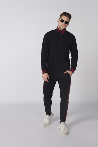 Bossini Printed Sweatshirt with High Neck and Long Sleeves