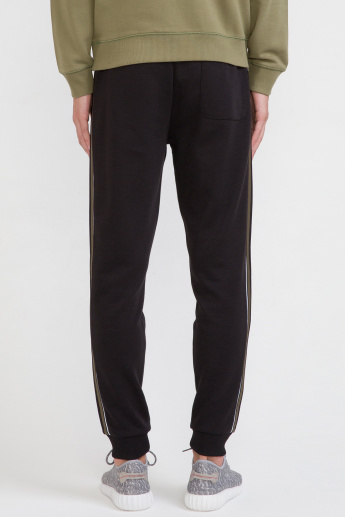 Bossini Side Tape and Pocket Detail Jog Pants with Drawstring