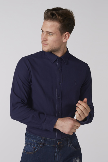 Bossini Textured Shirt with Long Sleeves and Complete Placket