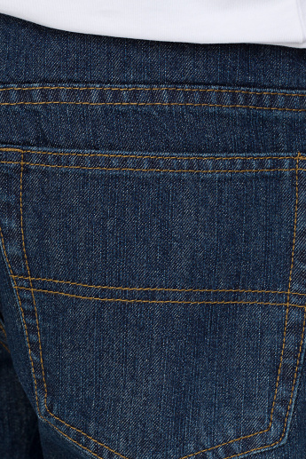 Bossini Full Length Jeans with Button Closure and Pocket Detail