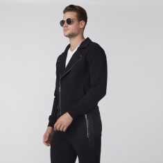 Bossini Textured Jacket with Long Sleeves and Zip Closure