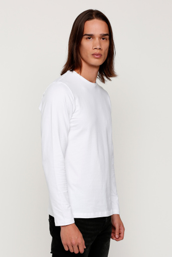 Lee Cooper Round Neck T-Shirt with Long Sleeves