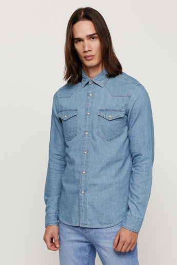 24a04f881 Lee Cooper Denim Shirt with Long Sleeves | Shirts | Tops | Regular | Men |  Online Shopping at Centrepoint